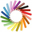 coloured pencils — Stockvector