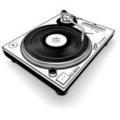 Dj gramofon — Stock vektor