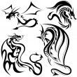 Tattoo Dragons — Stock Vector #3085322