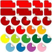 Adesivos de peeling — Vetor de Stock