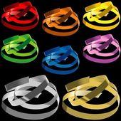 цветные конфетти — Cтоковый вектор