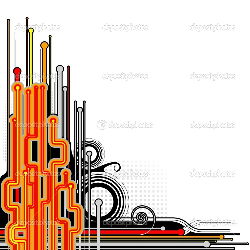 Abstract circuit background stock illustration