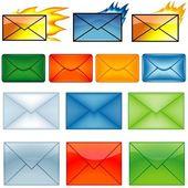 电子邮件符号 — 图库矢量图片
