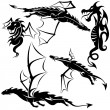 Royalty-Free Stock Vector Image: Tattoo Dragons