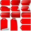 Red Price Tag - Stock Vector
