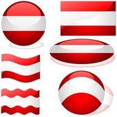 Flags Austria — Stock Vector