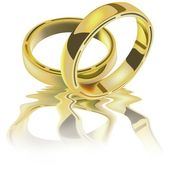 Two Wedding Rings — Stock Vector