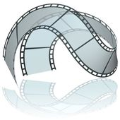 Curled Film — Stock Vector