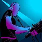 Disc Jockey Mixing Music — Stock Vector