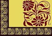 Braun floral grenze — Stockvektor