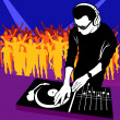 DJ and Music — Stock Vector