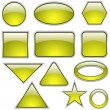 Yellow Glass Shapes - Stock vektor