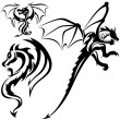 Tattoo Dragons — Stock Vector #3123546