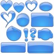 Blue Glass Shapes - Stock Vector