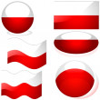 Flags Poland - Stock Vector
