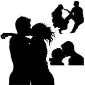 Bacio dolce — Vettoriale Stock