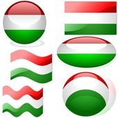 Flags Hungary — Stock Vector