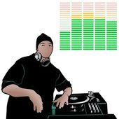 Disc Jockey Rap Music — Stock Vector
