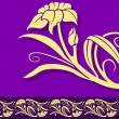 Violet Floral Border - Stockvectorbeeld
