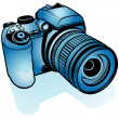 Blue Digital Camera - Stock Vector