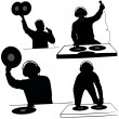 Disk Jockey - Stockvectorbeeld