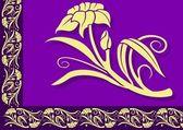 紫罗兰花边框 — 图库矢量图片