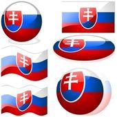 Vlaggen van Slowakije — Stockvector