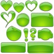 Green Glass Shapes — Stock Vector