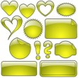 Yellow Glass Shapes - Stock Vector