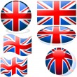 Flags United Kingdom — Stock Vector