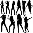 Dancing Girls - Stock Vector