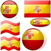 Flags Spain — Stock Vector