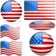 Flags USA — Vector de stock