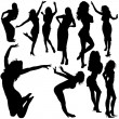 Stock Vector: Dancing Girls