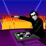 fiesta DJ — Vector de stock