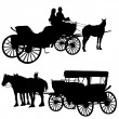 Carriage Silhouette - Imagen vectorial