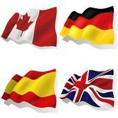 Wavy Flags — Stock Vector