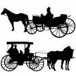 Carriage Silhouette - Stock Vector