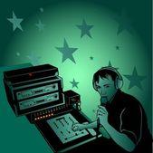 Musique dj et oldies — Vecteur