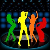 Dancing Girls — Vector de stock