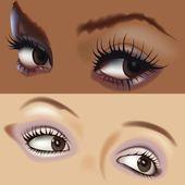 Girl Eyes — Stock Vector