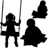 Preschoolers — Stock Vector
