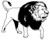 Walking Lion — Stock Vector