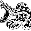 tatouage de serpent — Image vectorielle