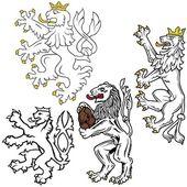 León heráldico — Vector de stock