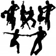 Latino Dance Silhouettes - Stock Vector