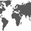 Dotted World Map - Image vectorielle