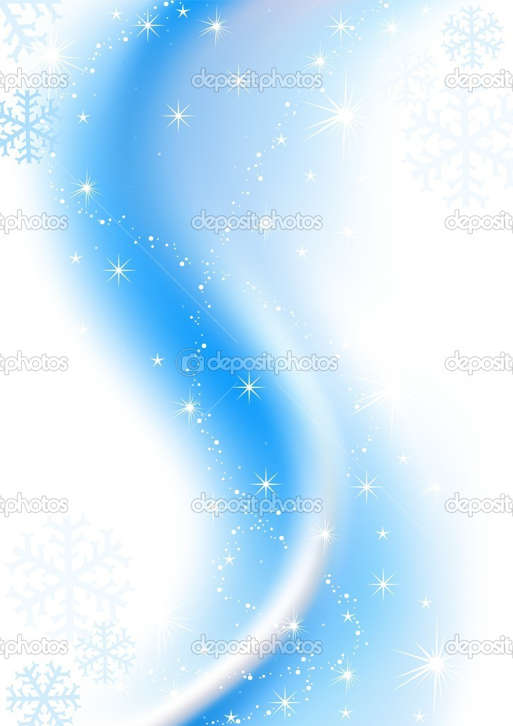 Blue Winter Christmas - colored abstract illustration, vector — Grafika wektorowa #3315592