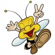Happy Smiling Wasp — Stock Vector