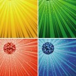 Disco Ball Backgrounds - Stock Vector